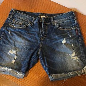 Silver denim Sammy shorts